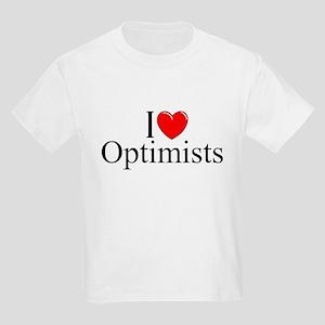 """I Love (Heart) Optimists"" Kids Light T-Shirt"