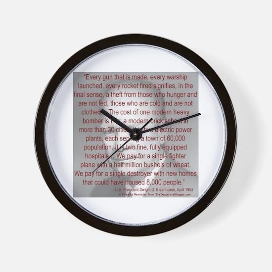 'Spread the Wealth Around' Ike Wall Clock