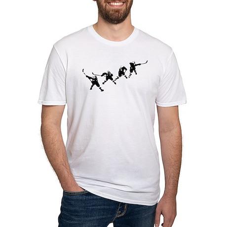 Hockey Art Slapshot Fitted T-Shirt