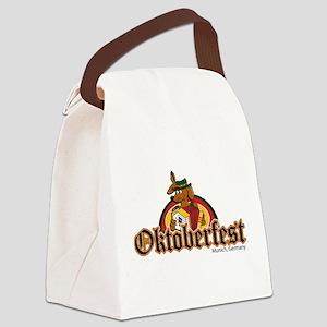 Oktoberfest Dachshund Canvas Lunch Bag