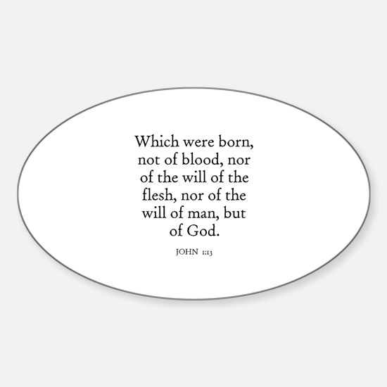 JOHN 1:13 Oval Decal