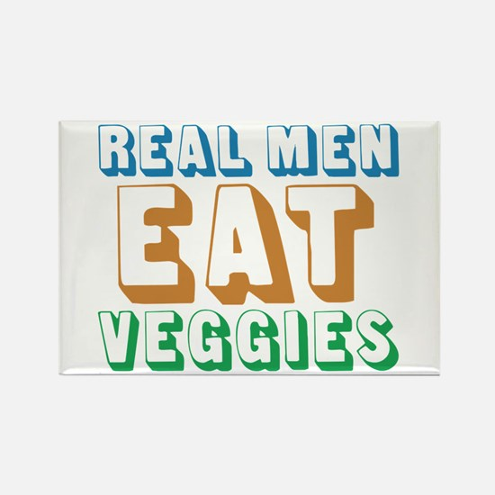 Real Men Eat Veggies Rectangle Magnet