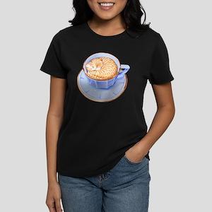 Cat in Coffee Women's Dark T-Shirt