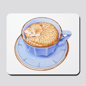 Cat in Coffee Mousepad