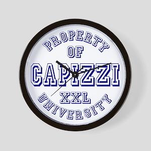 Property of Capizzi University Wall Clock
