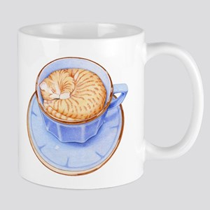 Cat in Coffee Mug