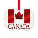 Canada Flag Souvenirs Picture Ornament