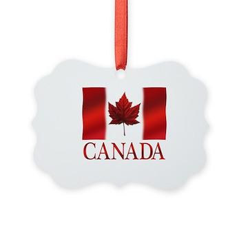 Canada Flag Souvenirs Picture Ornament