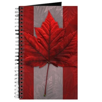 Canada Flag Souvenirs Journal
