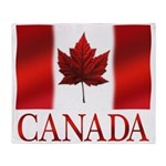 Canada Flag Souvenirs Throw Blanket