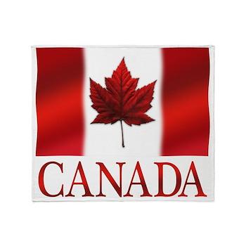 Canada Flag Souvenirs Throw Blanket