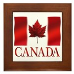 Canada Flag Souvenirs Framed Tile