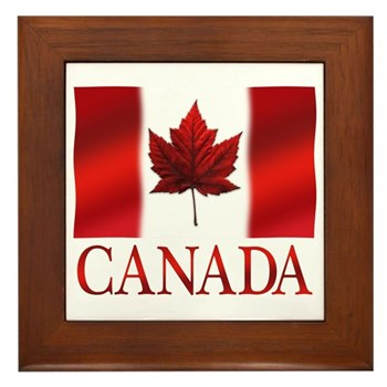 Canada Flag Souvenirs Framed Tile