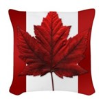 Canada Flag Souvenirs Woven Throw Pillow