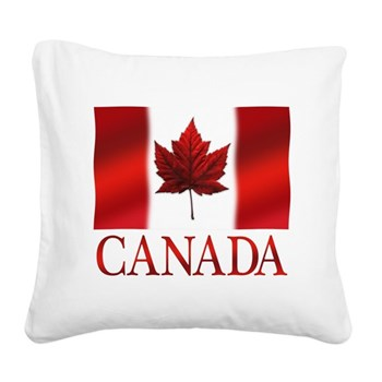 Canada Flag Souvenirs Square Canvas Pillow