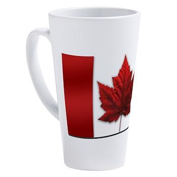 Canada Flag Souvenirs 17 oz Latte Mug