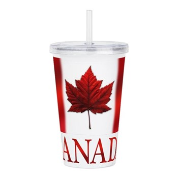 Canada Flag Souvenirs Acrylic Double-wall Tumbler