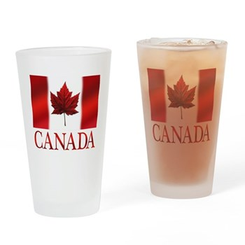 Canada Flag Souvenirs Drinking Glass