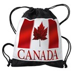 Canada Flag Souvenirs Drawstring Bag