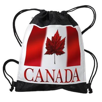 Canada Flag Souvenirs Drawstring Bag
