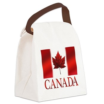 Canada Flag Souvenirs Canvas Lunch Bag
