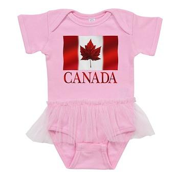 Canada Flag Souvenirs Baby Tutu Bodysuit