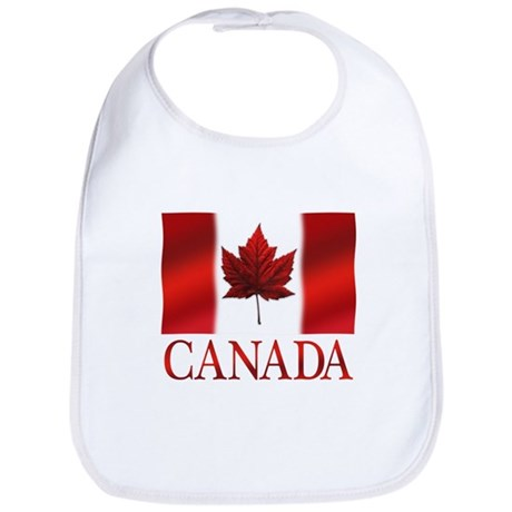 Canada Flag Souvenirs Baby Bib