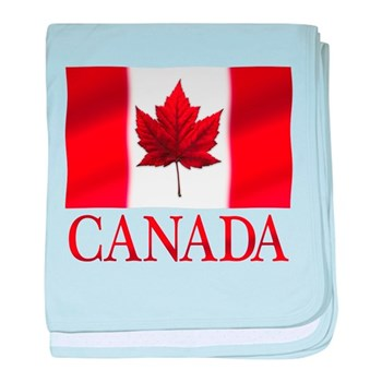 Canada Flag Souvenirs baby blanket