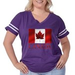 Canada Flag Souvenirs Women's Plus Size Football T