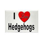 I Love Hedgehogs Rectangle Magnet (10 pack)