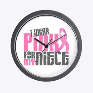 I Wear Pink For My Niece 6.2 Wall Clock