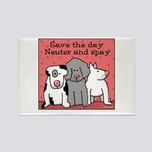 Dog Spay and Neuter Rectangle Magnet