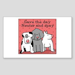Dog Spay and Neuter Rectangle Sticker