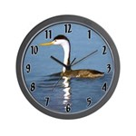 Clark's Grebe Wall Clock