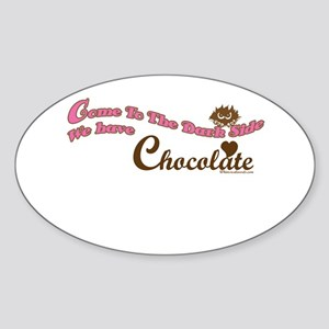 Chocolate Lover Oval Sticker