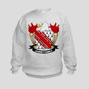 Janney Family Crest Kids Sweatshirt