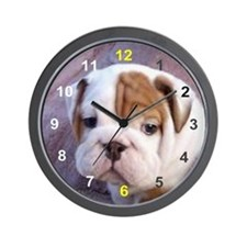 home bulldog gifts Wall Clock