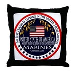 Marine Corps Best Friend Throw Pillow