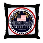 Marine Corps Girlfriend Throw Pillow