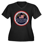 Marine Corps Girlfriend Women's Plus Size V-Neck D