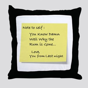 Note to self... Throw Pillow