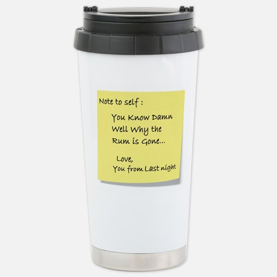 Note to self... Stainless Steel Travel Mug