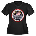 Marine Corps Fiance Women's Plus Size V-Neck Dark
