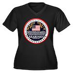 Marine Corps Daughter Women's Plus Size V-Neck Dar