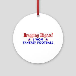 Fantasy Football Winner! Ornament (Round)