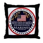 Marine Corps Dad Throw Pillow