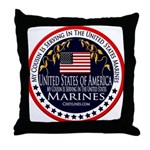 Marine Corps Cousin Throw Pillow