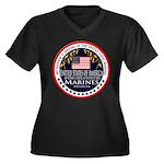 Marine Corps Nephew Women's Plus Size V-Neck Dark