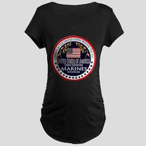 Marine Corps Veteran Maternity Dark T-Shirt