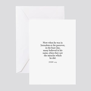 JOHN  2:23 Greeting Cards (Pk of 10)